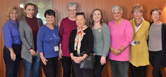 The LunaFest Committee Members - From left, Joan Boiko, Marisol Guerrero, Gloria Hill, Laura Fiedler, Patricia Ewoldsen, Chair Samantha Dewing, Jamie Pricer, Penny Shaw and Donna Manoff