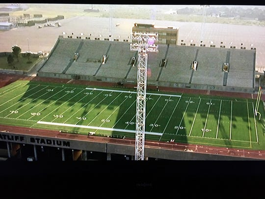"This is a photo of Ratliff Stadium taken from a TV showing  the 2004 movie ""Friday Night Lights."" Palm Desert High School will play in this stadium on Sept. 20 next season."