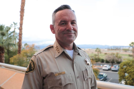Riverside County Sheriff Chad Bianco in Palm Springs, Calif. on Feb. 5, 2019.