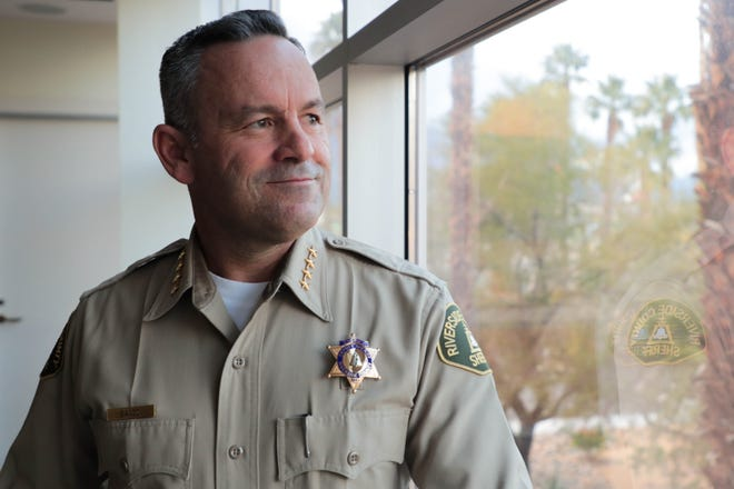 Riverside County Sheriff Chad Bianco poses for a photo in Palm Springs, Calif. on Wednesday, February 5, 2019.