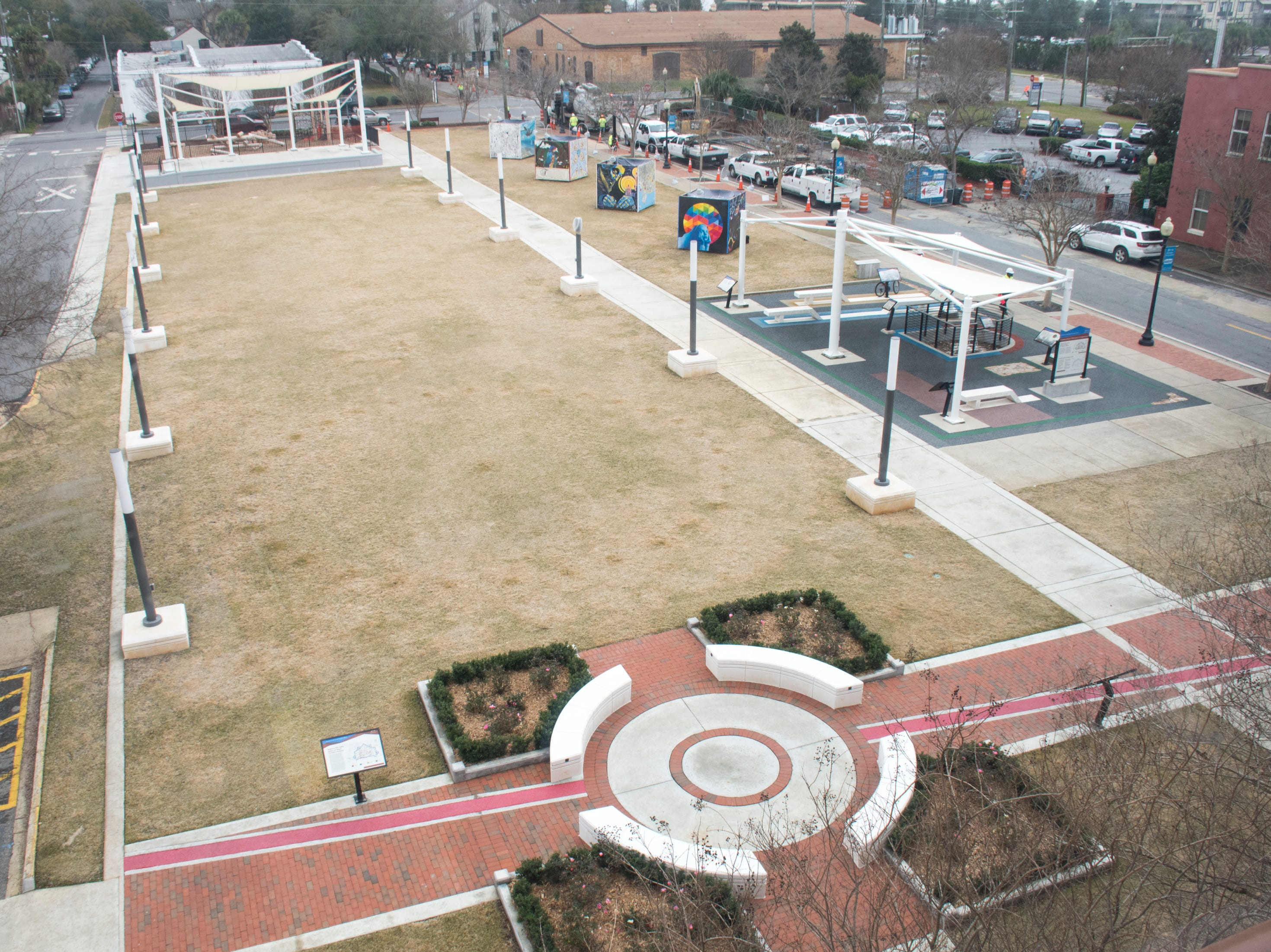 Museum Plaza behind the T.T. Wentworth Museum in downtown Pensacola on Tuesday, February 5, 2019.
