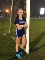 Gulf  Breeze junior Kristen Goodroe leads the Pensacola area with 26 goals this season.