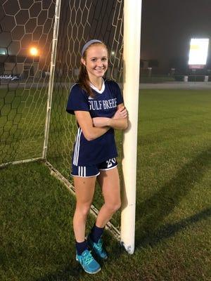 Gulf  Breeze junior Kristen Goodroe leads the Pensacola area with 26 goals this season.