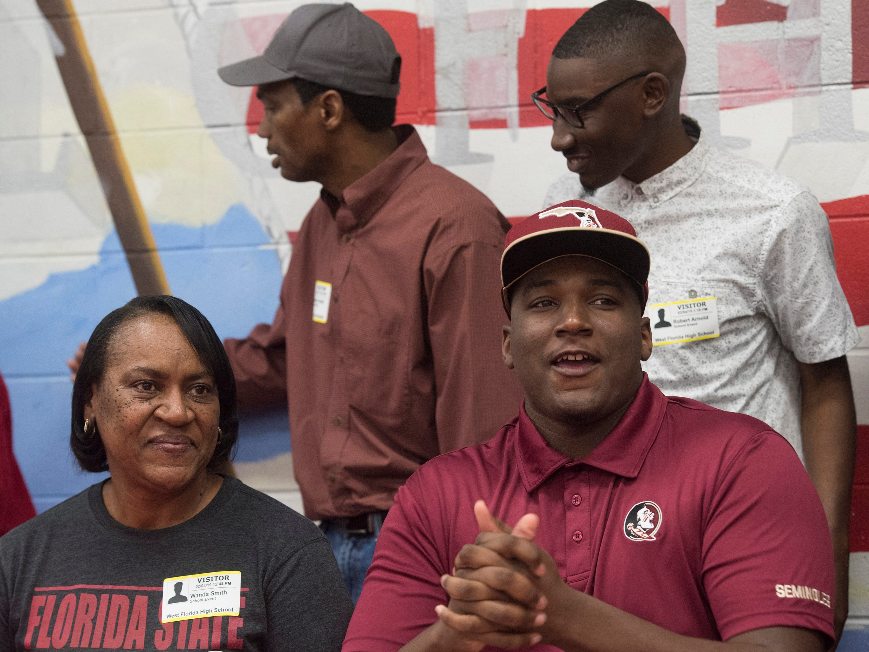 West Florida High School's Darius Washington commits to Florida State University on National Signing Day on Wednesday Feb.6, 2019.