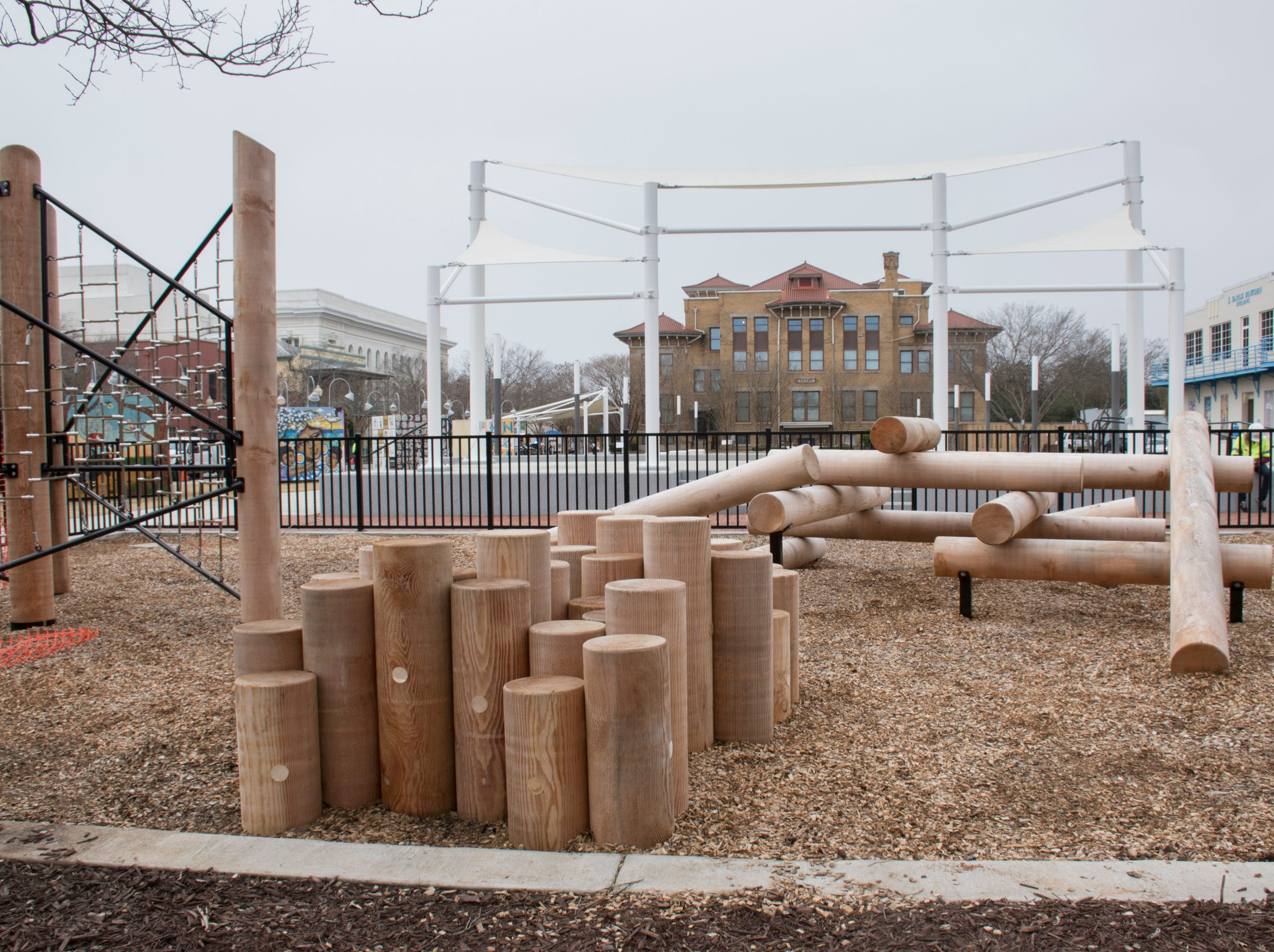 The playground at the Museum Plaza behind the T.T. Wentworth Museum in downtown Pensacola on Tuesday, February 5, 2019.