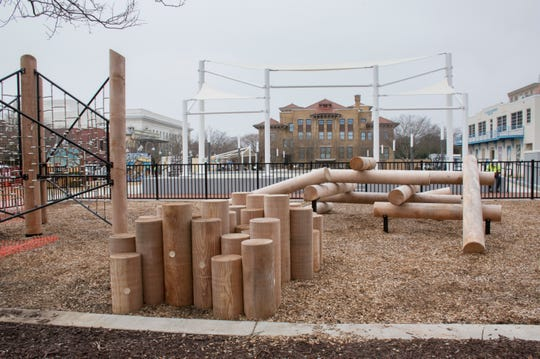 The Discovery Square Early Learning Playground is one of the features of the new Museum Plaza in downtown Pensacola.