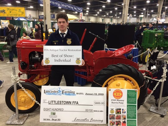 Jason Penton took home the FFA Best in Show - Individual award for his antique tractor restoration at the 2019 Pennsylvania Farm Show.