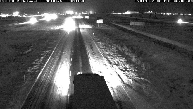 Traffic cameras on Interstate 40 captured some of the early morning snowfall in and around the Flagstaff area.