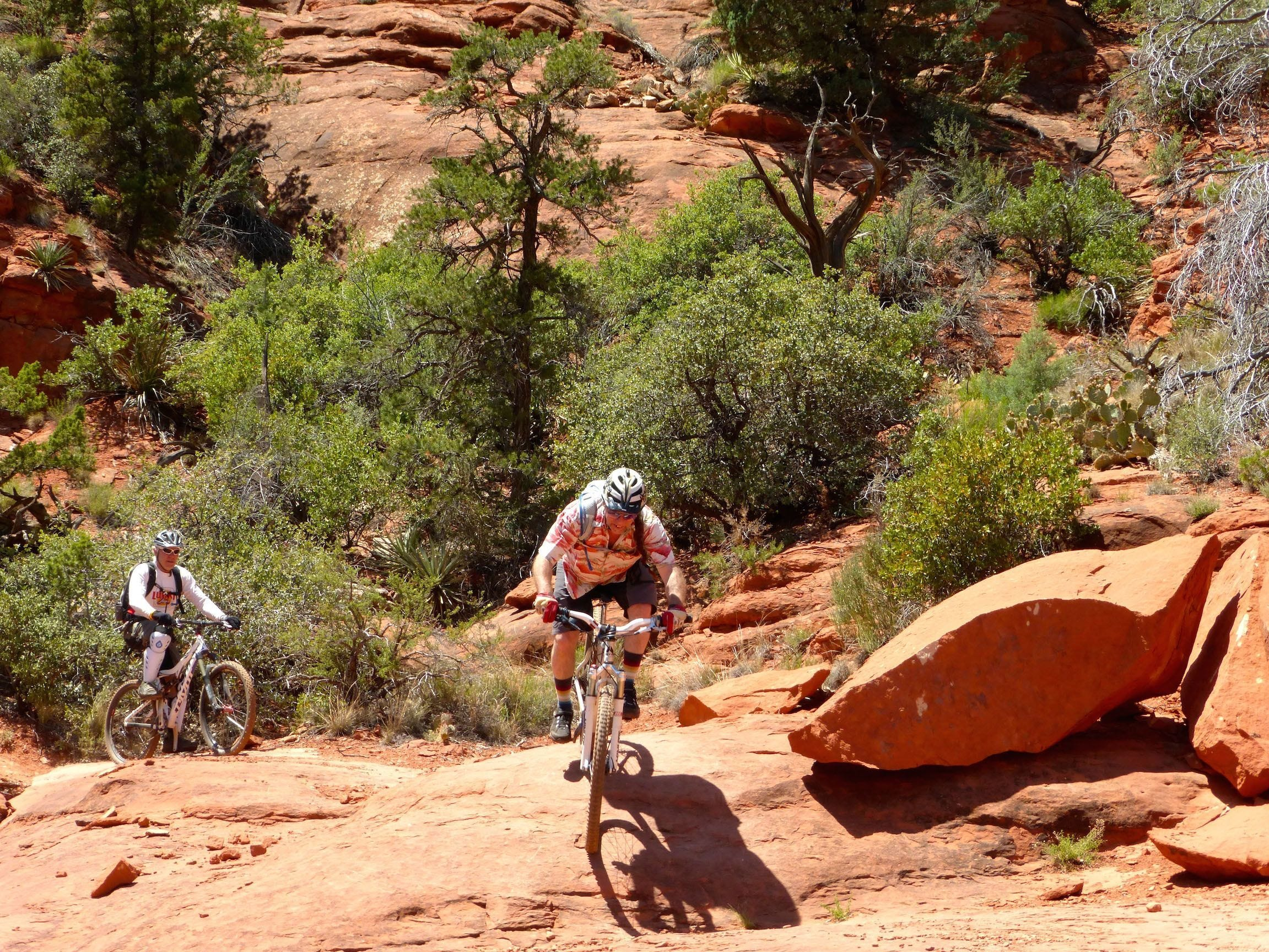 The system of Hog trails in Sedona are popular with hikers and experienced mountain bikers.  Roger Naylor The system of Hog trails in Sedona are popular with hikers and experienced mountain bikers.
