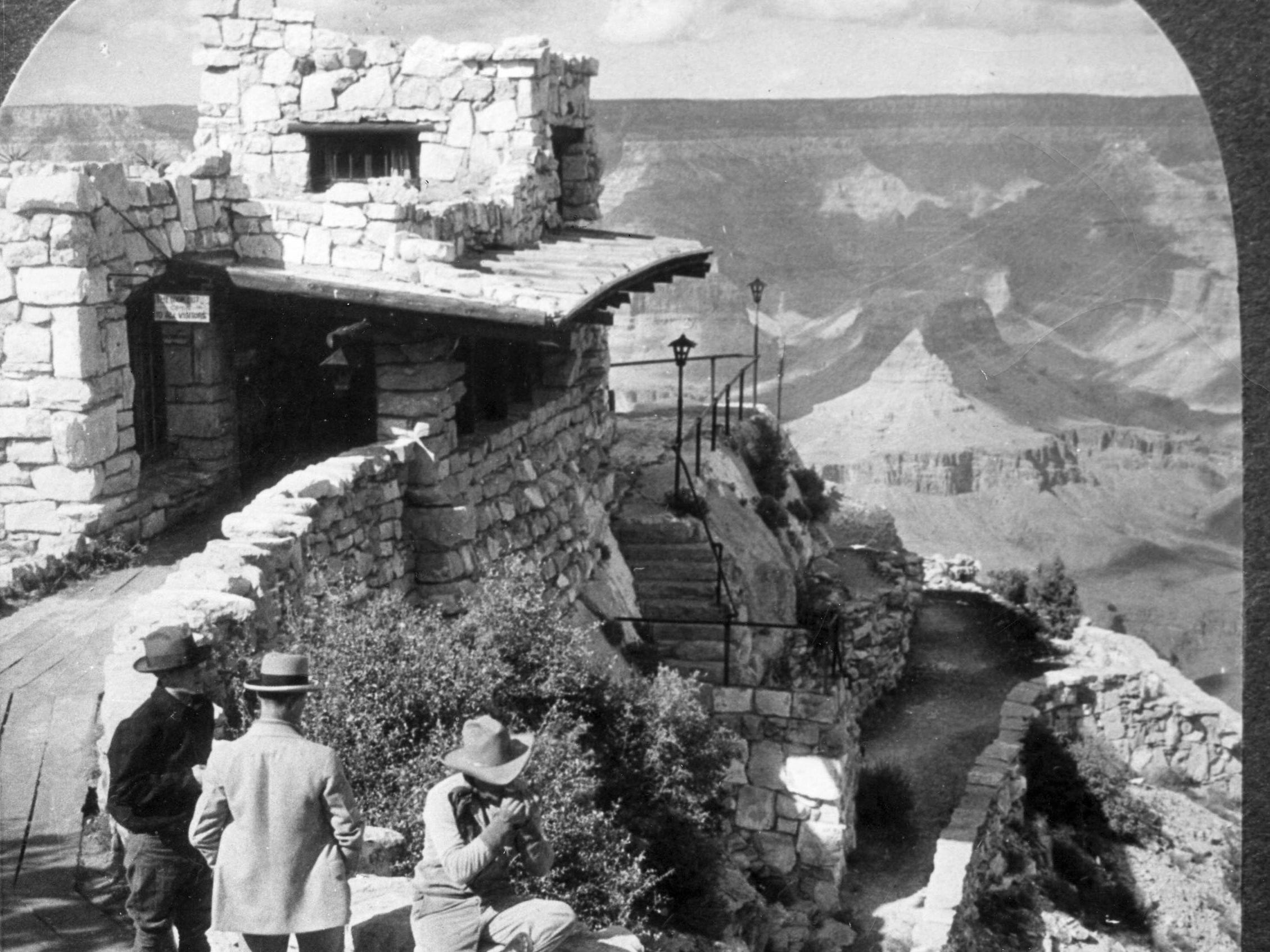 Lookout Tower on the South Rim, as seen in 1919.