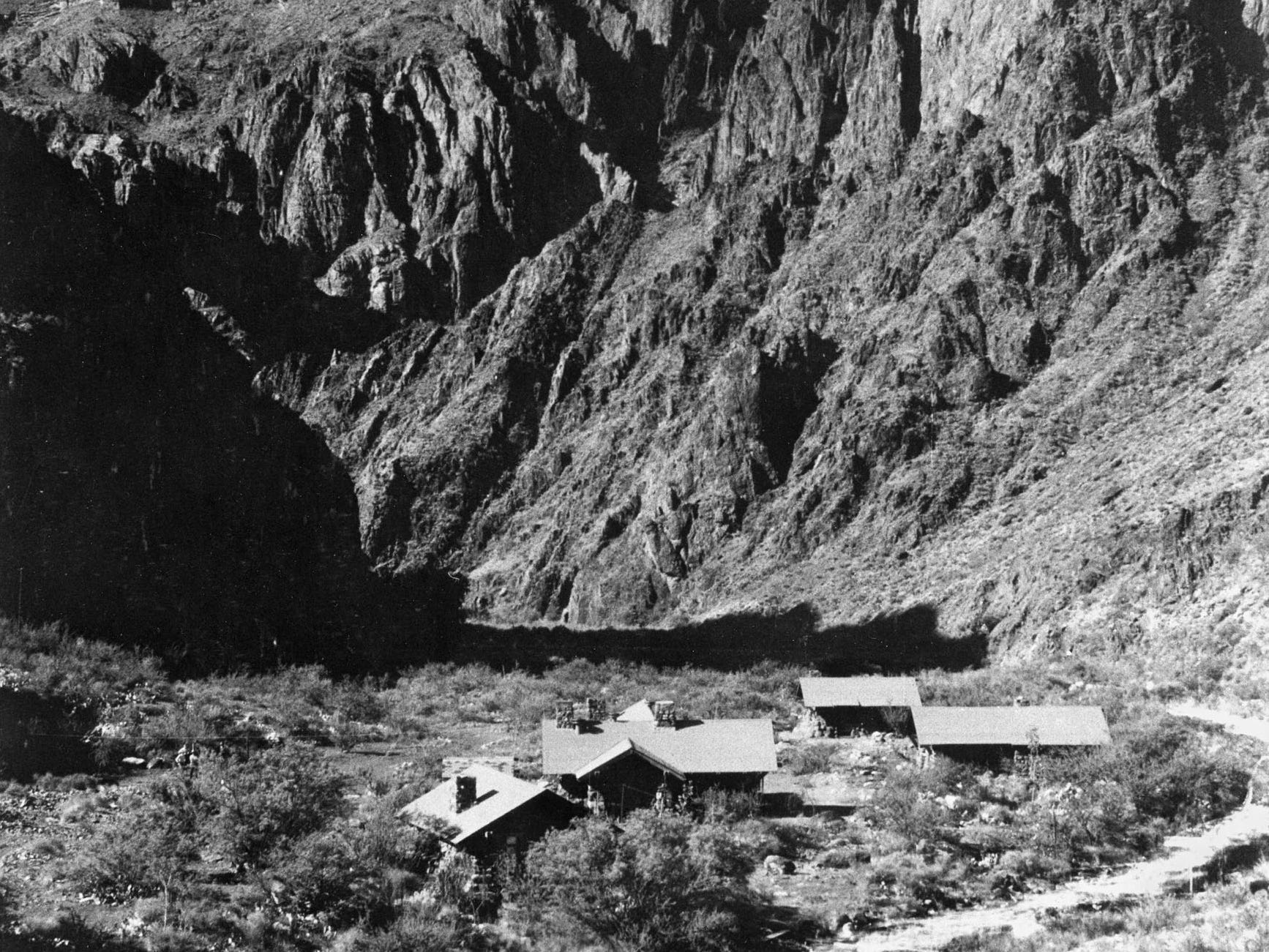 Phantom Ranch at the bottom of the Grand Canyon, as seen in 1922.