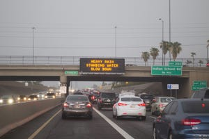 Arizona Department of Transportation signs on Interstate 17 northbound in Phoenix on Tuesday, Aug. 2, 2016.