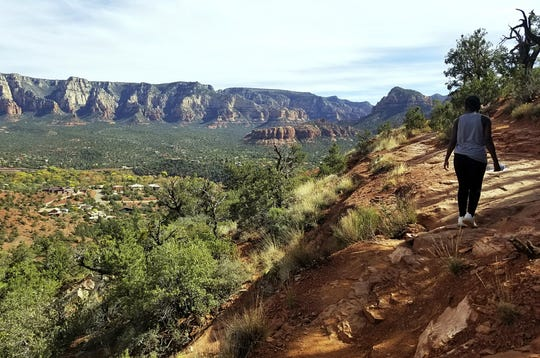 Hiking the Airport Mesa Trail in Sedona.