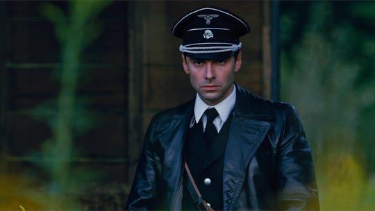 "Aidan Turner plays a younger Calvin Barr in ""The Man Who Killed Hitler and Then The Bigfoot."""