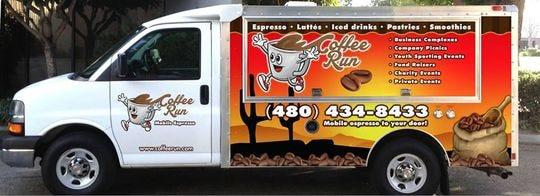 Camión de comida Coffee Run.