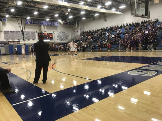 A fired-up crowd at the Falcon Cage was treated to an epic battle between the Cedar Crest and Manheim Township boys on Tuesday night. Township prevailed 61-60 to capture the Section 1 title.