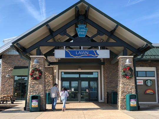 The Lawn Travel Plaza, a rest stop located along Interstate 76, is technically accessible without traveling the Pennsylvania Turnpike.