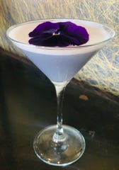 Violet's Daydream is a cocktail created with a focus on floral ingredients such as lavender, crème de violette and gin at the Roundhouse in Beacon.