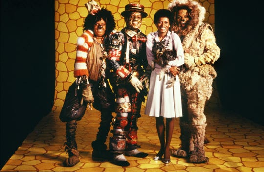 "NEW YORK - 1978:  The cast of ""The Wiz"" (L-R Michael Jackson, Nipsey Russell, Diana Ross and Ted Ross) pose for a publicity shot in 1978 in New York, New York. The movie was directed by Sidney Lumet and produced by Universal Studios."