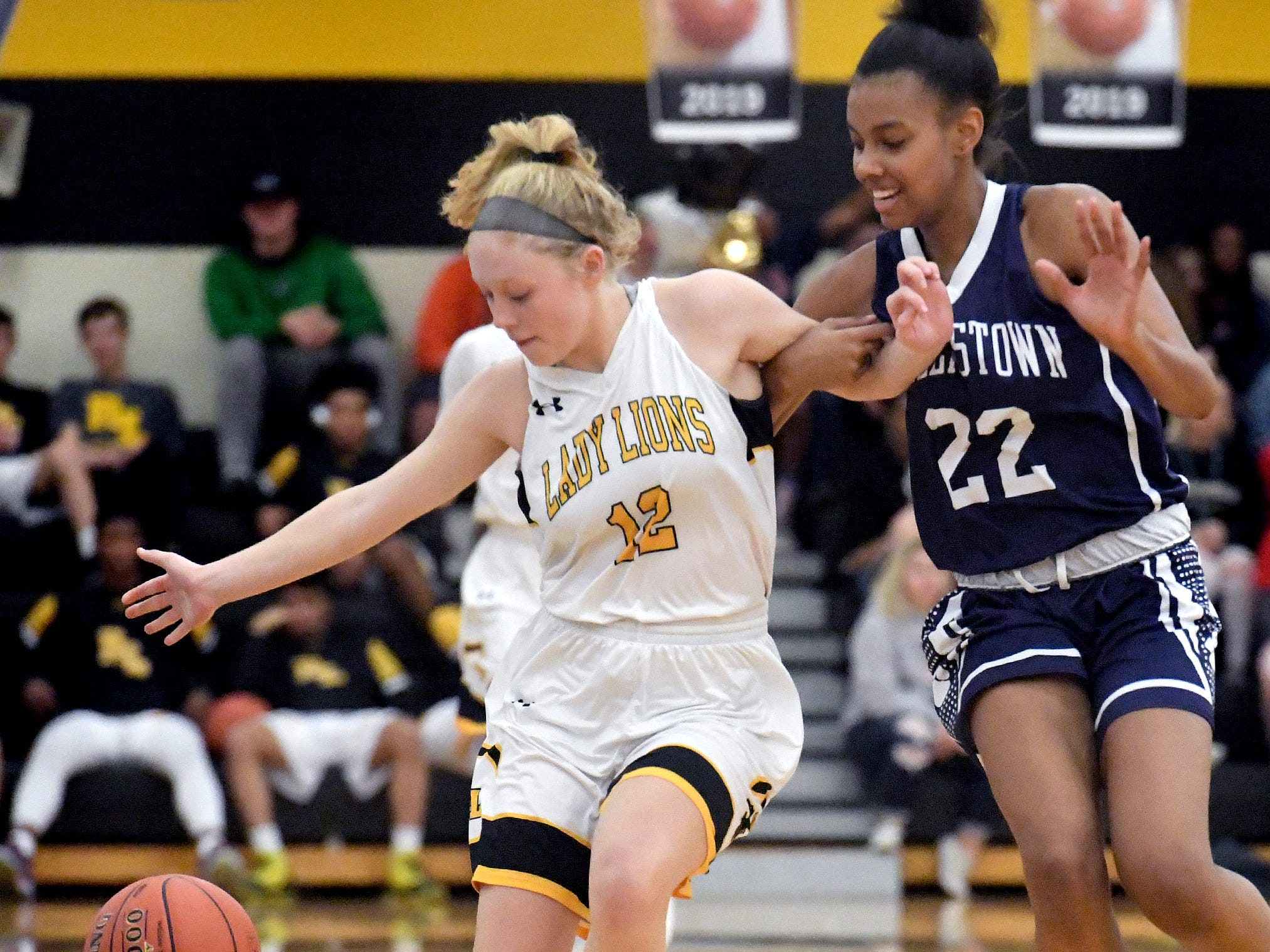 Dallastown earns a 38-28 win over host Red Lion to clinch an outright York-Adams Division I title Tuesday, Feb. 5, 2019. Bill Kalina photo
