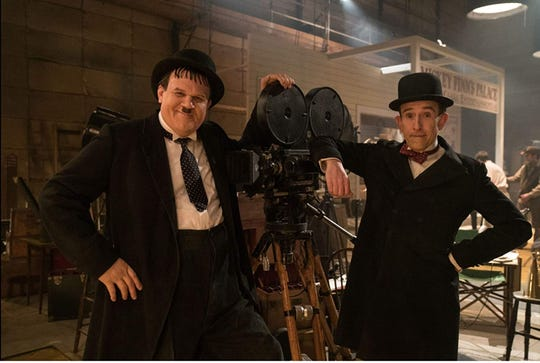 "John C. Reilly, left, and Steve Coogan star in ""Stan & Ollie,"" playing at Small Star Art House."