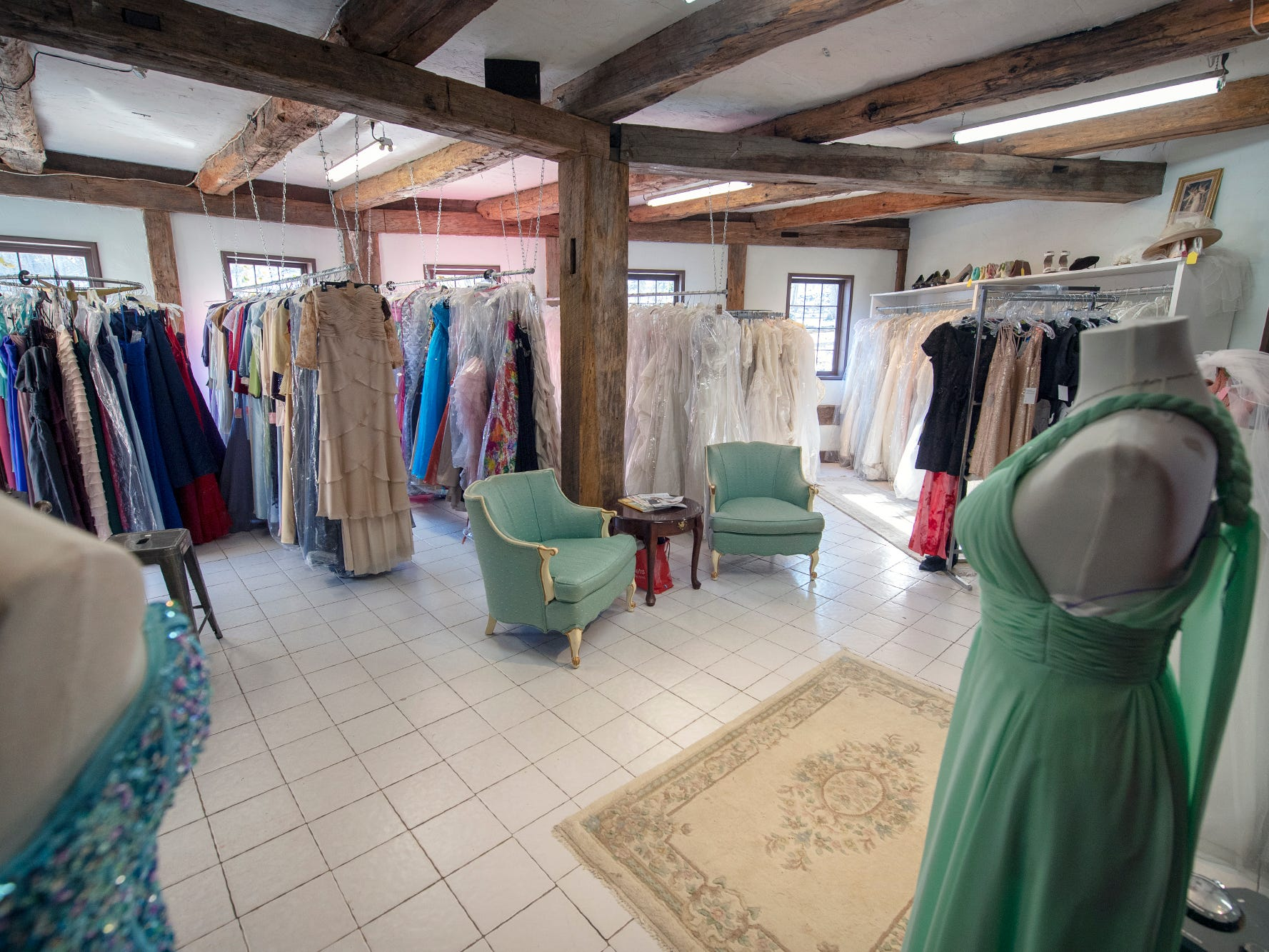 The bridal dress shop. Notable wedding and event venue, the historic Stone Mill 1792 in York County, is for sale.