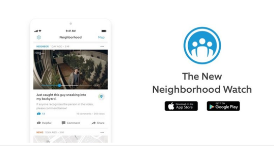 The free Ring Neighbors app ties residents in with a network that provides real-time crime and safety information.
