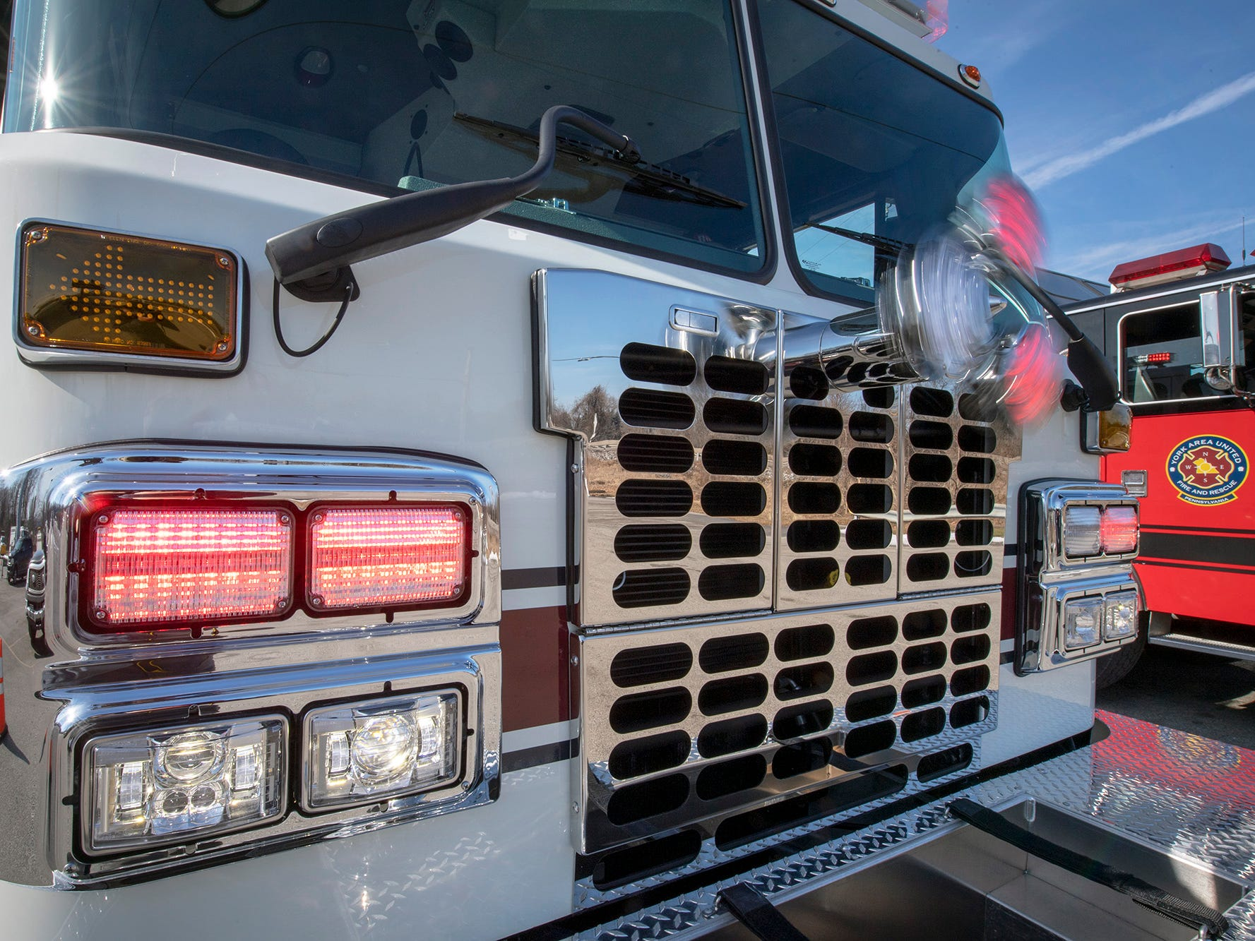 LED lighting on Engine 892 allows for a smaller alternator and less fuel needed to power the engine at York Area United Fire & Rescue's Victory Fire Co. No. 2 in Spring Garden Township.