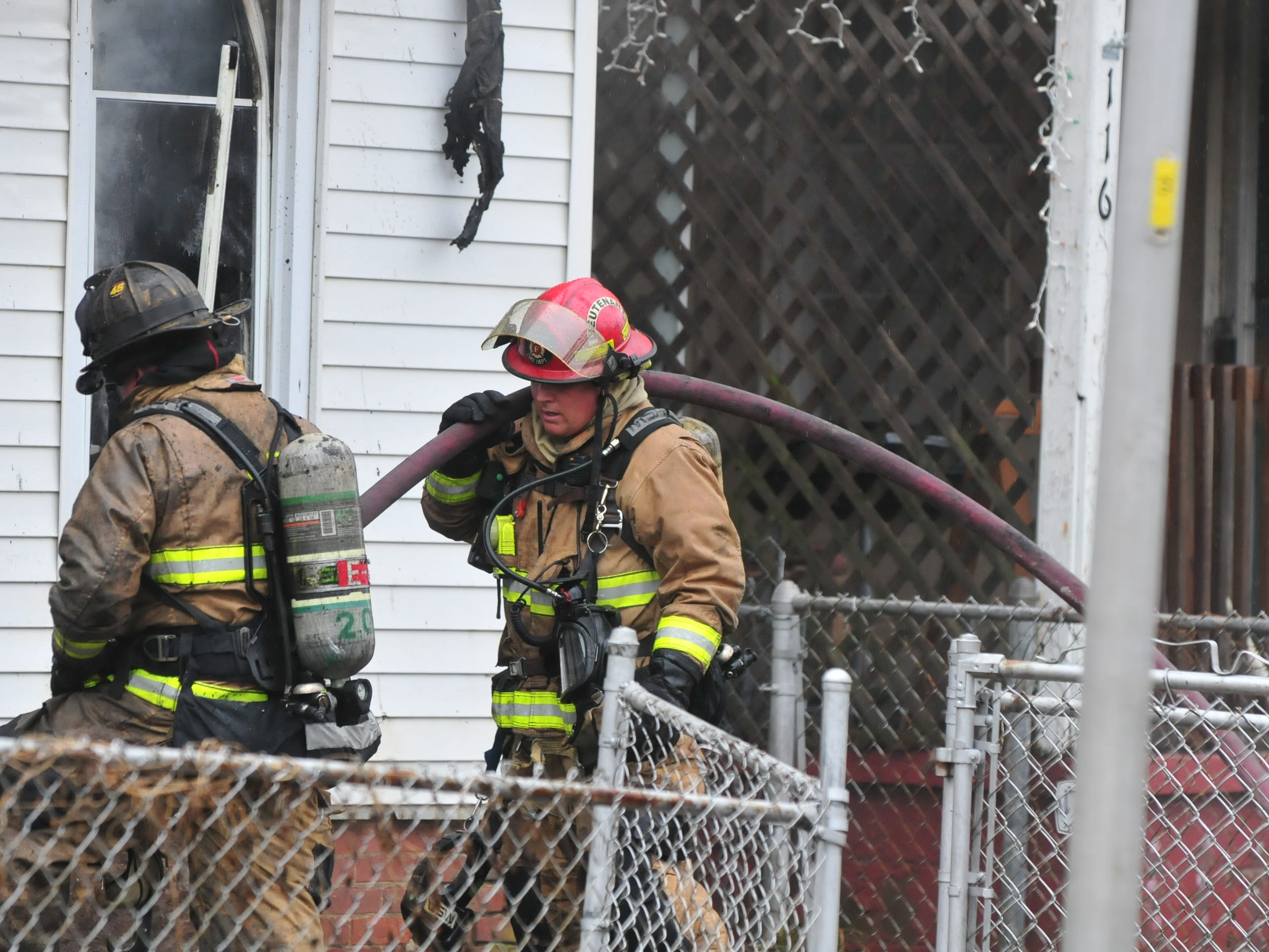 Richmond Fire Department personnel was called to a house fire at 11:09 a.m. Wednesday at 112 N. 18th St.