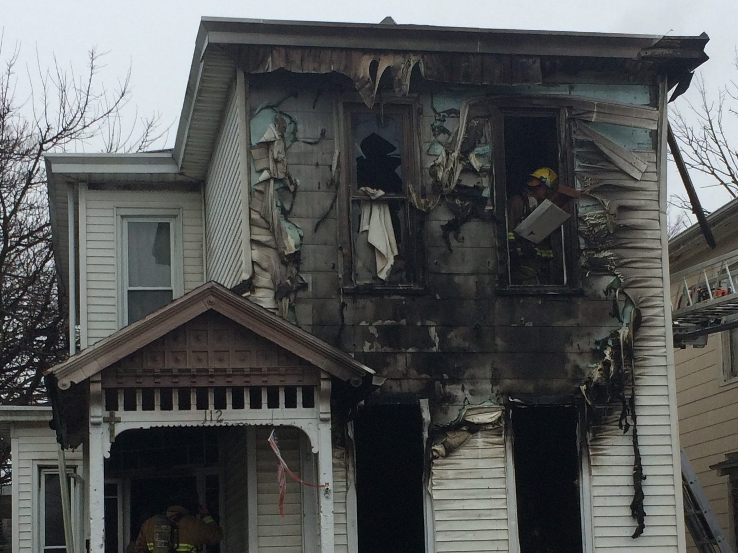 Richmond Fire Department was dispatched at 11:09 a.m. Wednesday to a house fire at 112 N. 18th St.
