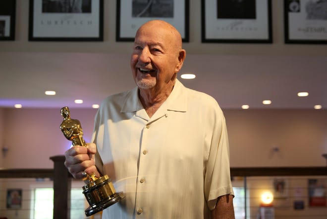 Don Rogers received an Oscar for lifetime achievement in sound in 1996. Photographed at his home near Salem on Wednesday, Feb. 6, 2019.