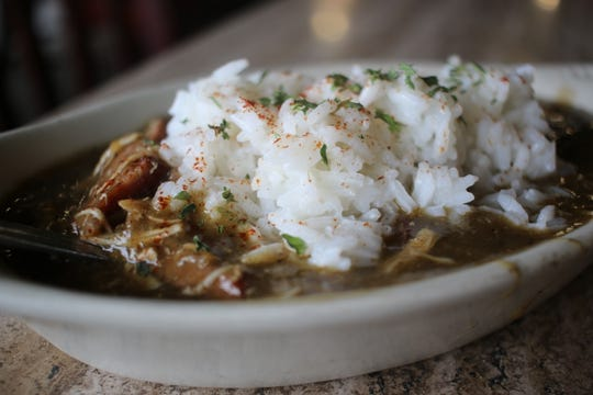 Gumbo at Orlandeaux's Cafe in Shreveport.