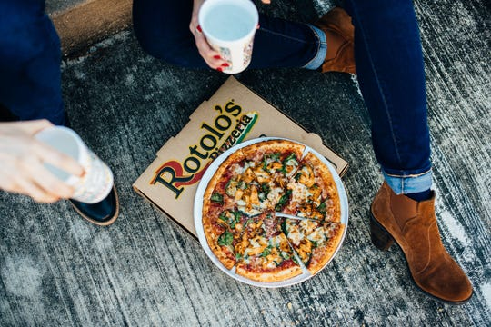 Pizzas on cauliflower crust and a hummus-based pizza are two of the new options on Rotolo's spring menu.