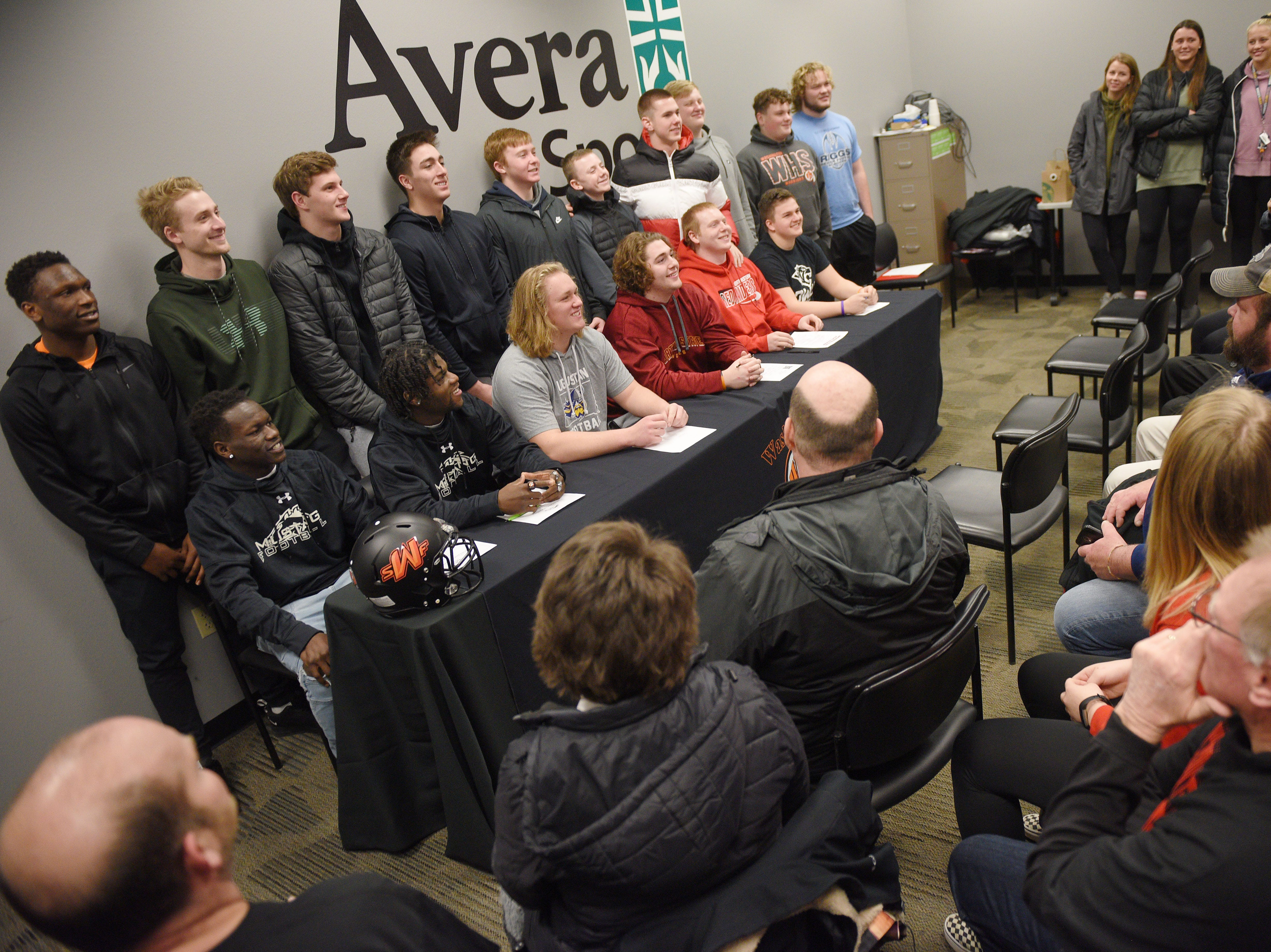 Washington signing day Wednesday, Feb. 6, at Avera Sports Institute in Sioux Falls.