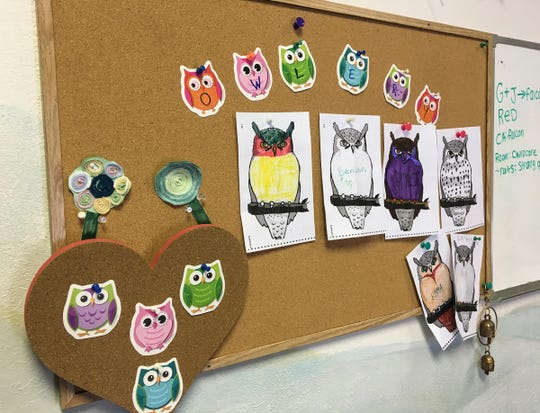 Each child in Unity Spiritual Center's Sunday school gets an owl and can send positive messages to each other using the classroom Owlry. In the Harry Potter story, owls are used to deliver letters.