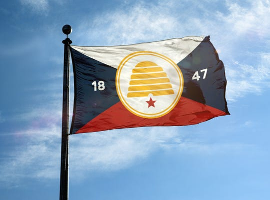 According to Richard Martin, Chair of the Organization for a New Utah Flag, the new design has several main points of symbolism, with the red color at the bottom symbolizing the red rocks of Southern Utah.