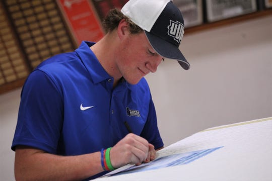 Leon long snapper Wyatt Adams signed with West Florida during signing ceremonies on National Signing Day, Feb. 6, 2019.