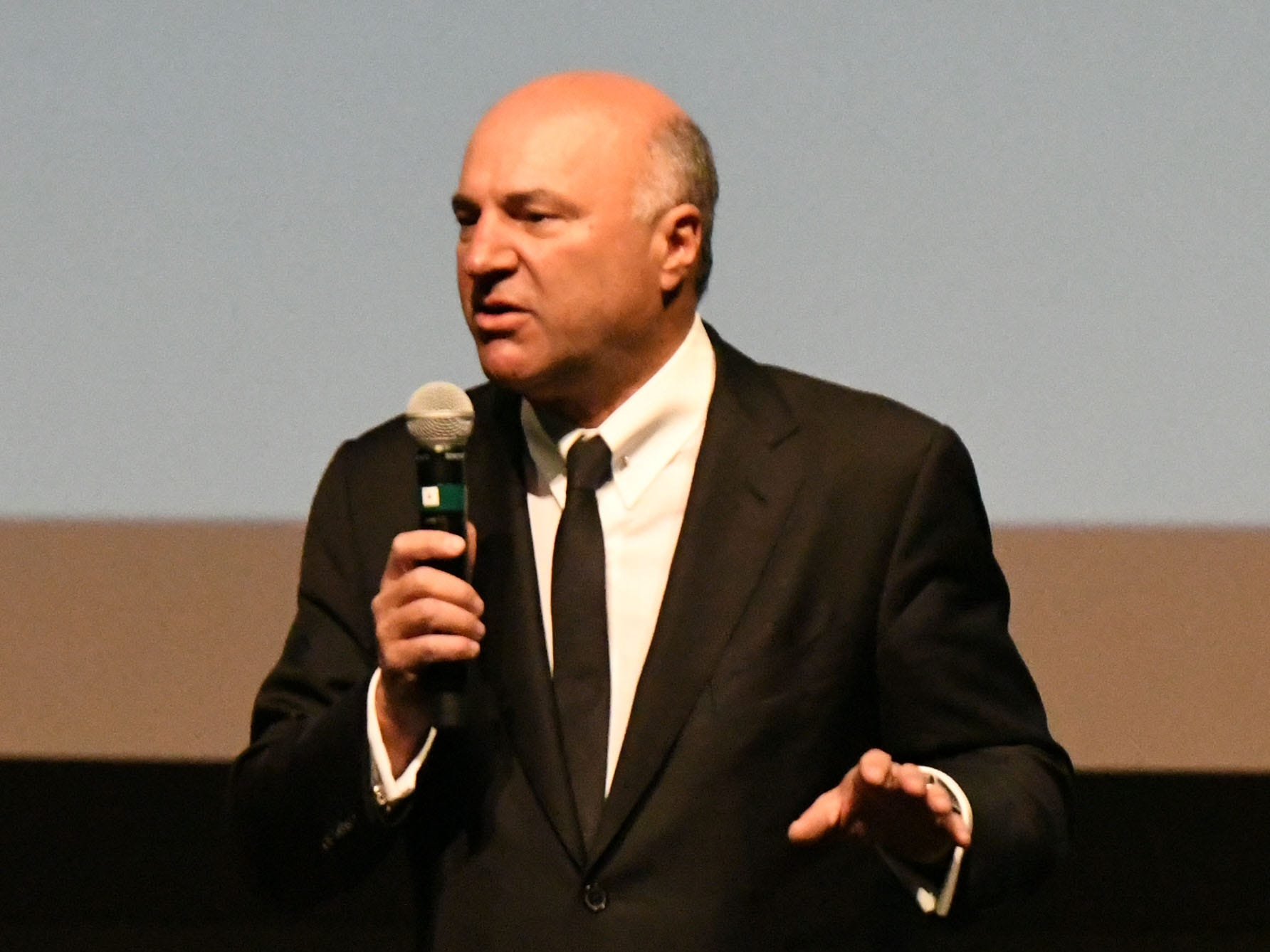 Shark Tank co-star and serial entrepreneur Kevin O'Leary talks to a crowd of a couple hundred people about entrepreneurship at the Power Forward business event in the Ruby Diamond Hall, Wednesday Feb. 6, 2019.
