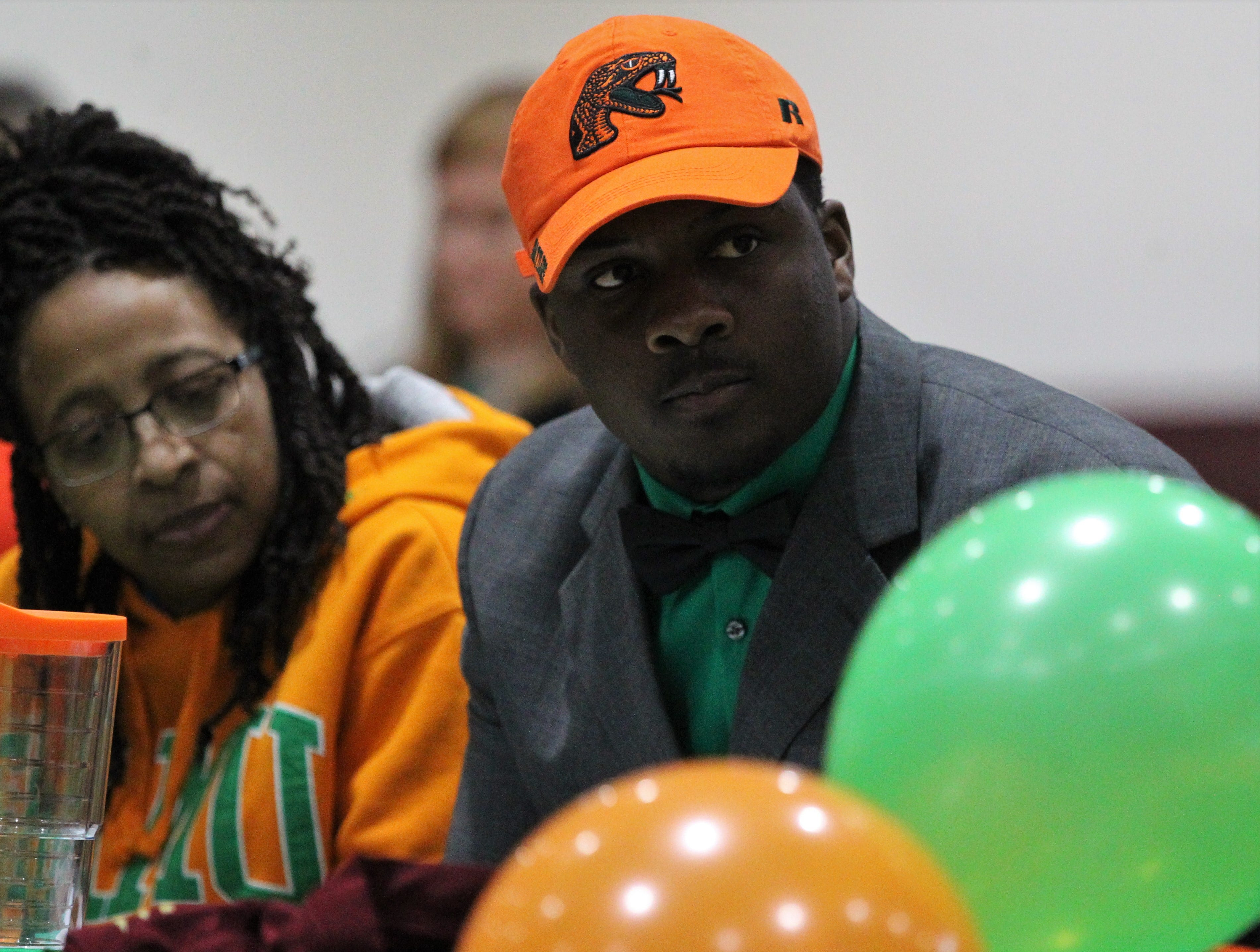 Florida High defensive tackle Jolan Gilley signed with Florida A&M during signing ceremonies on National Signing Day, Feb. 6, 2019.
