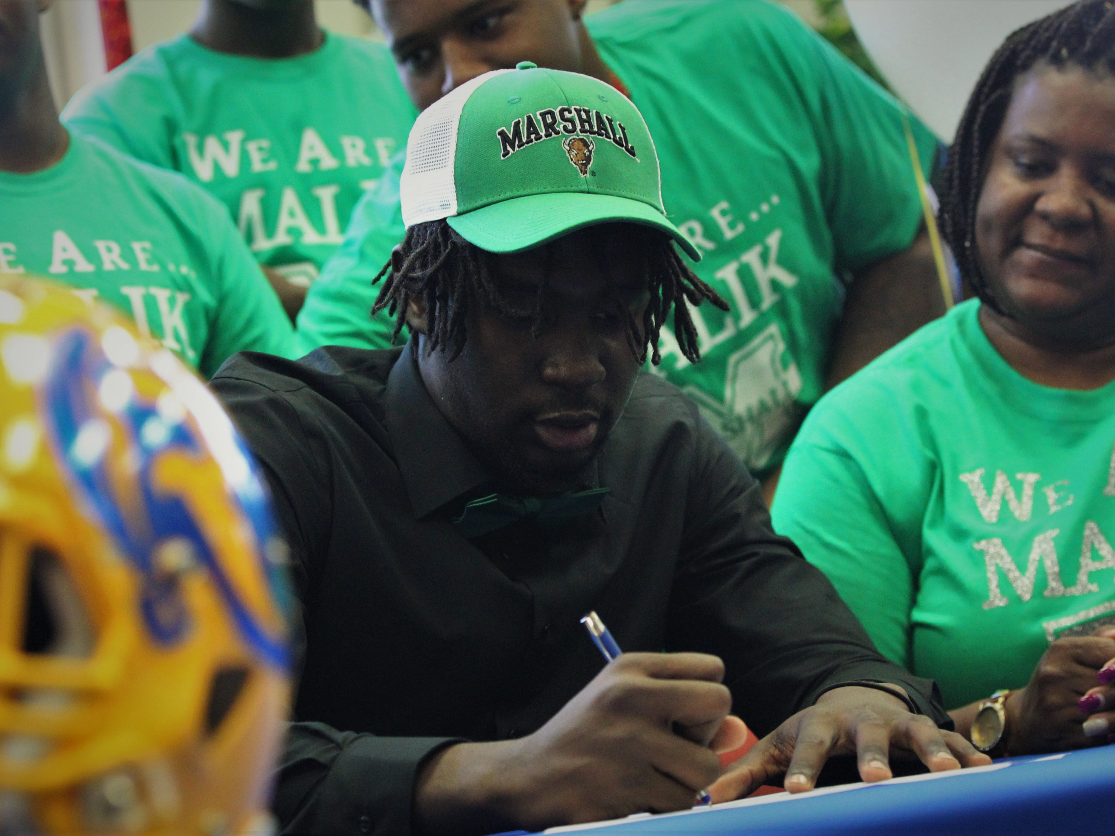 Rickards defensive end Malik Darisaw signed with Marshall during signing ceremonies on National Signing Day, Feb. 6, 2019.