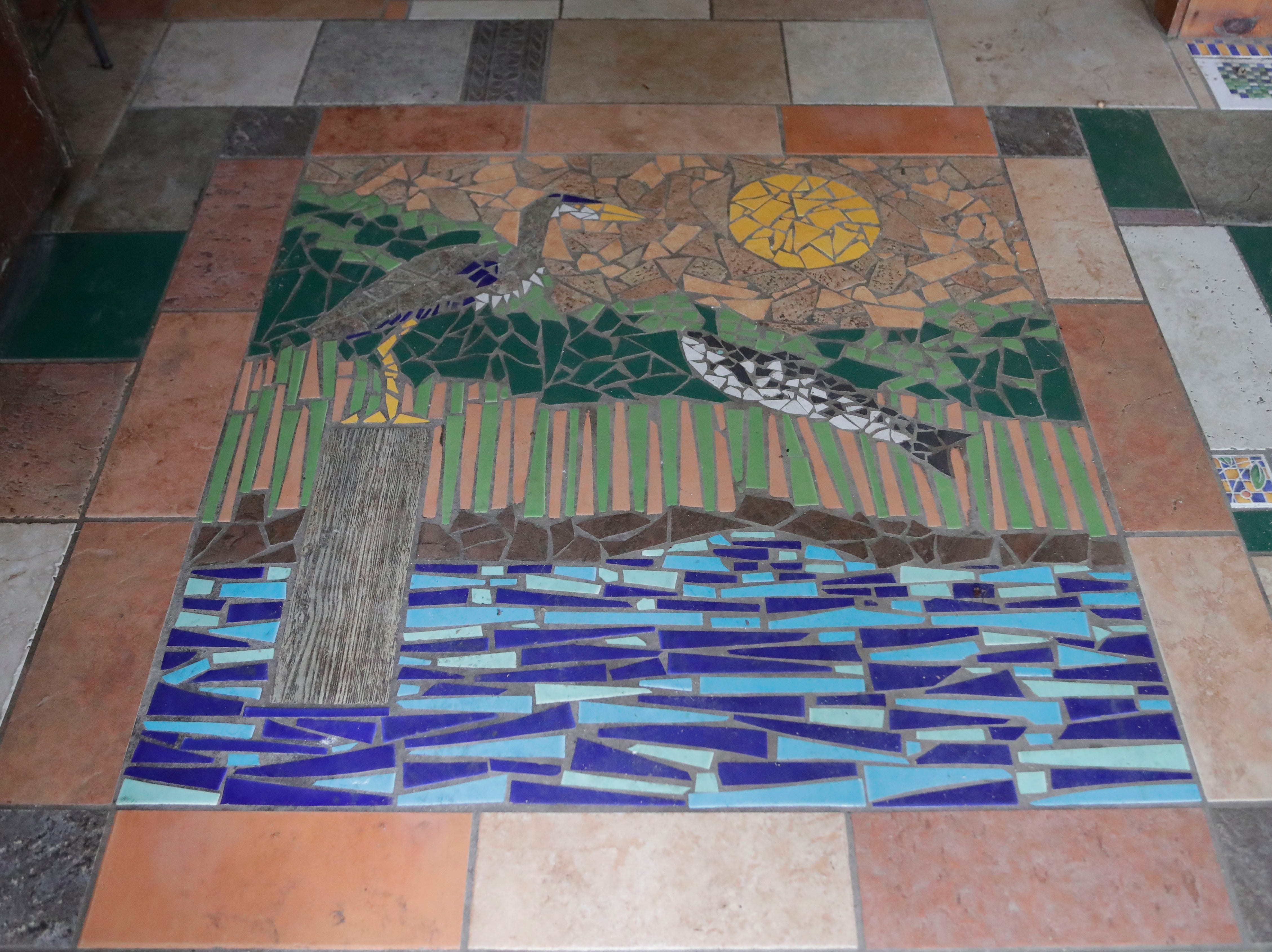 A tile mural in the entrance of the Spring Creek Restaurant, Tuesday, Feb. 5, 2019.