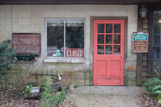 The entrance to the Spring Creek Restaurant with a closed sign in the window, Tuesday Feb. 5, 2019. Leo Lovell, owner of the restaurant plans on selling the business and going out on top.