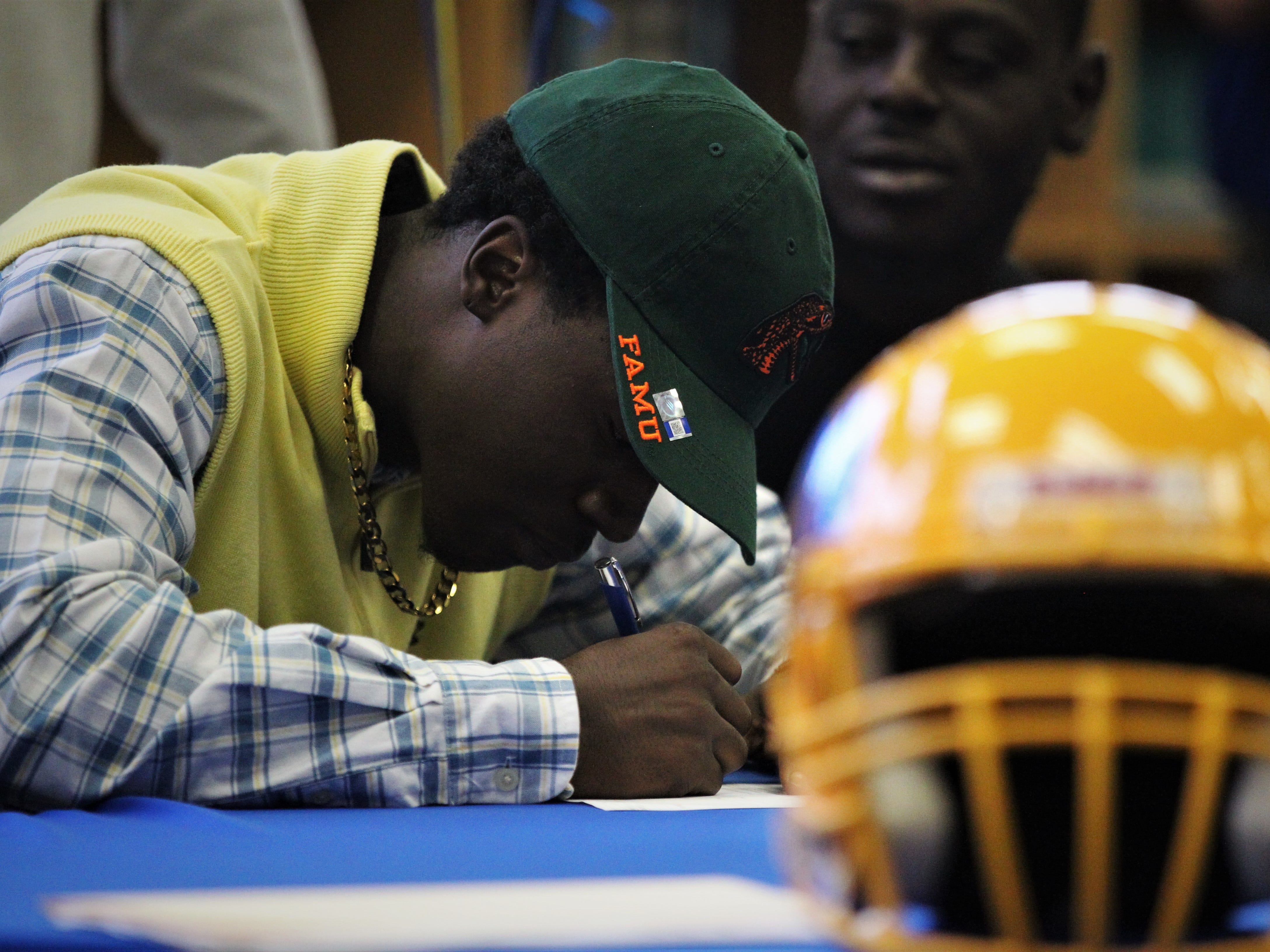Rickards wide receiver Sammy Carter signed with Florida A&M during signing ceremonies on National Signing Day, Feb. 6, 2019.