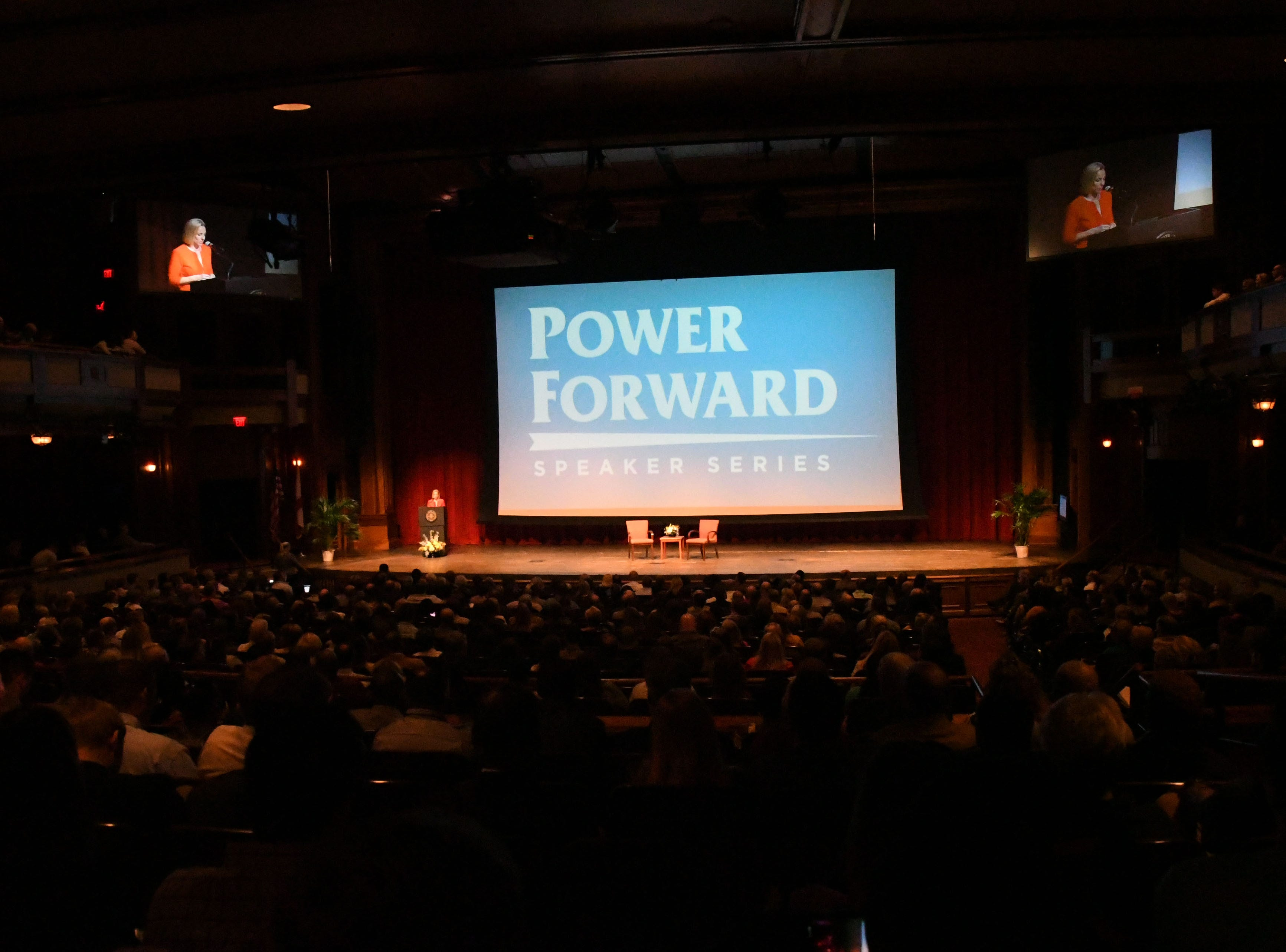 Hundreds of Shark Tank fans and entrepreneurs of all ages attend the Power Forward business event in the Ruby Diamond Hall, Wednesday Feb. 6, 2019. Shark Tank co-star and serial entrepreneur Kevin O'Leary was the featured speaker at the event.