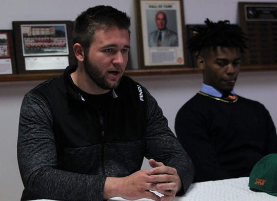 Leon offensive lineman Lee Klein signed with Valdosta State during signing ceremonies on National Signing Day, Feb. 6, 2019.