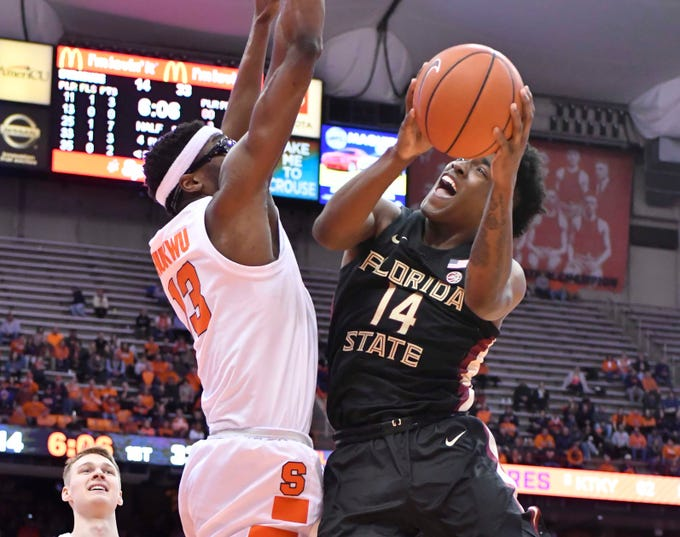 Florida State senior forward Terance Mann led the way for the Seminoles with 22 points and nine rebounds during an 80-62 road win over Syracuse on Tuesday night.