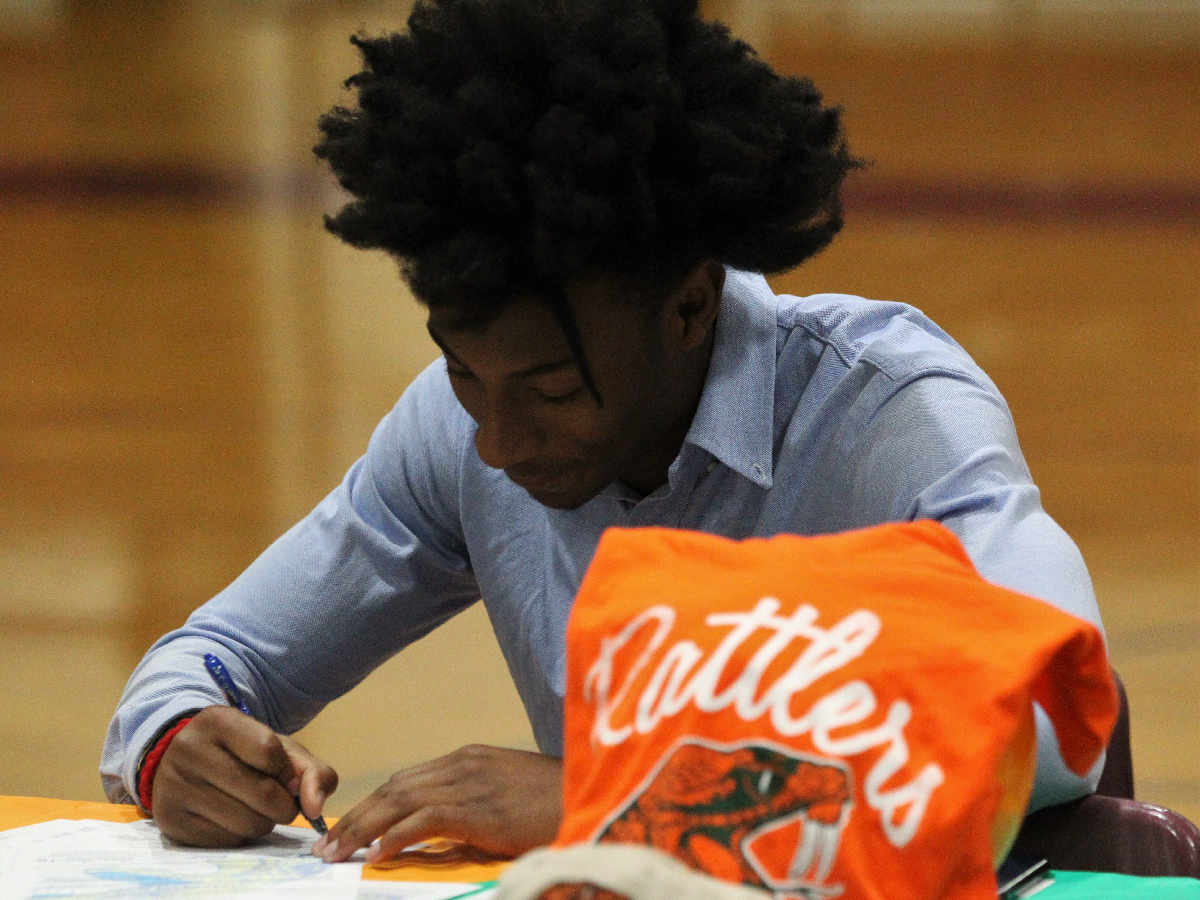 Florida High receiver Javan Morgan signed with Florida A&M during signing ceremonies on National Signing Day, Feb. 6, 2019.