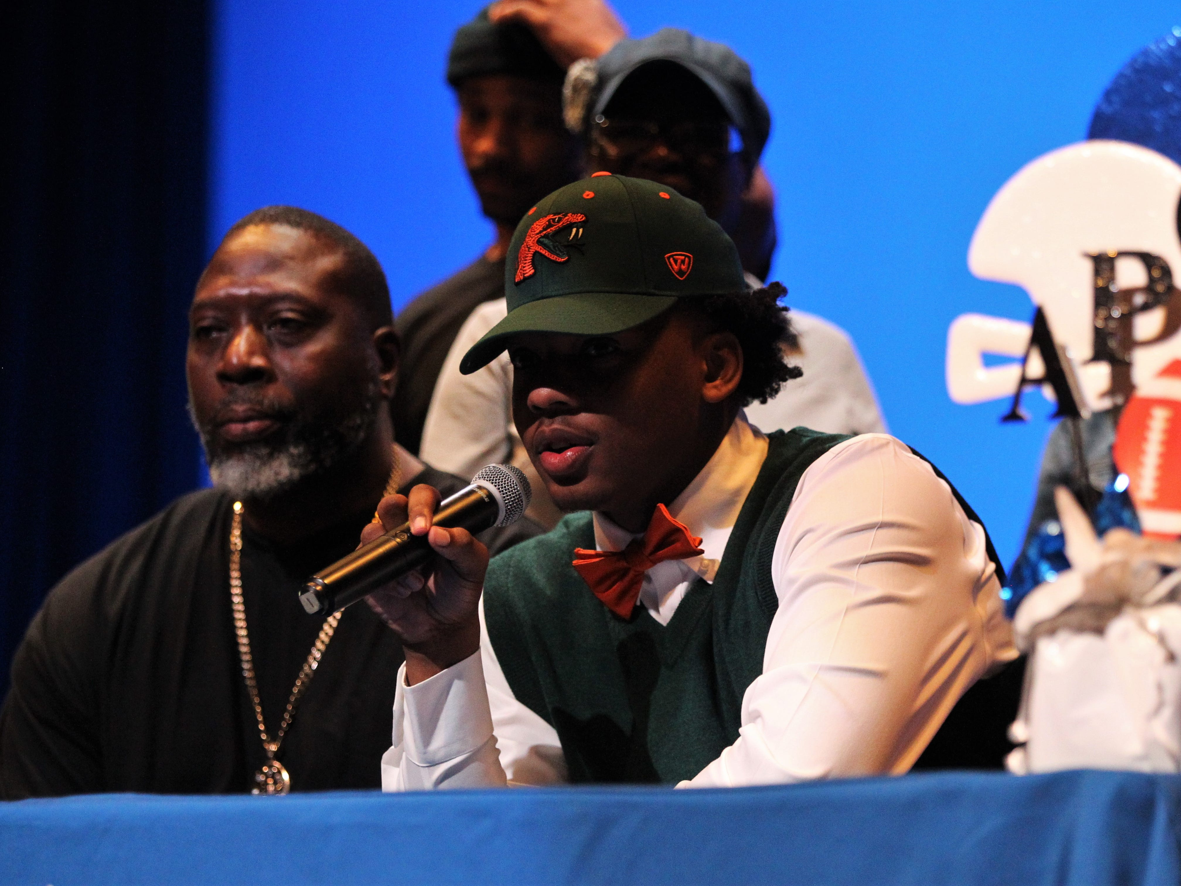 Godby tight end Kamari Young signed with Florida A&M during signing ceremonies on National Signing Day, Feb. 6, 2019.