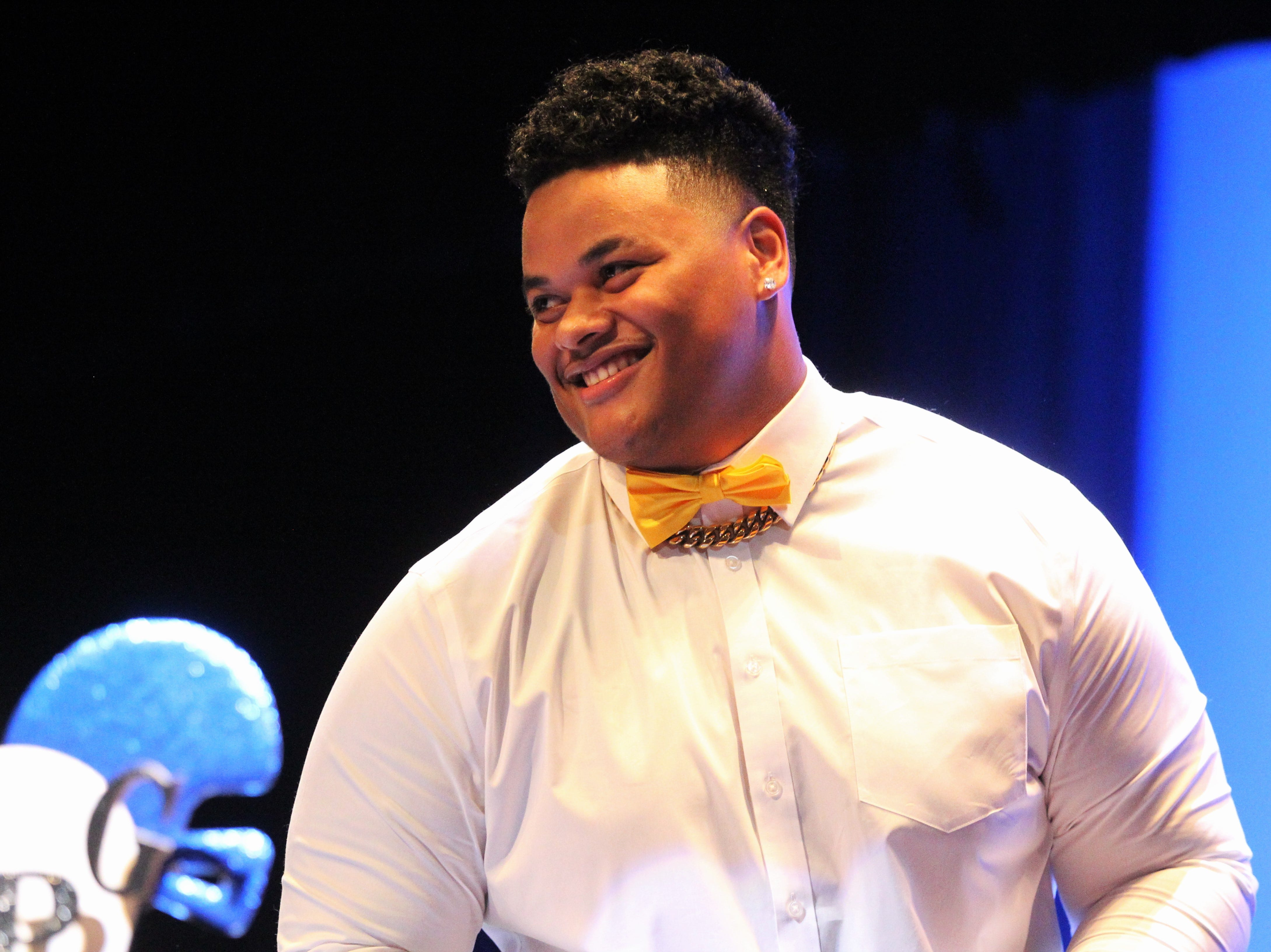 Godby defensive tackle Quentin Jones signed with Kent State during signing ceremonies on National Signing Day, Feb. 6, 2019.