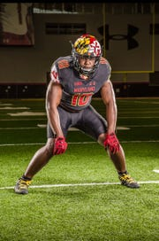Godby senior linebacker Cortez Andrew, seen here during an official visit, chose to sign with Maryland.